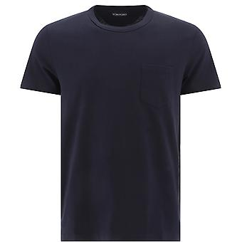 Tom Ford Bu402tfj902b19 Men's Blue Cotton T-shirt
