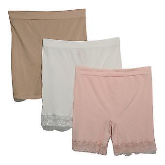 Breezies Plus Panties Seamless Smoothing Short Set Pink A374503