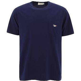 Maison Kitsuné Fm00120kj0010navy Men's Blue Cotton T-shirt