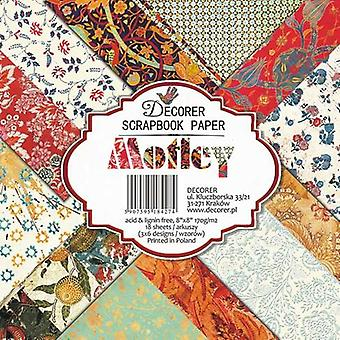 Decorer Motley 8x8 Inch Paper Pack