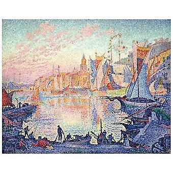 Print on canvas - The Port Of Saint Tropez - Paul Signac - Painting on Canvas, Wall Decoration