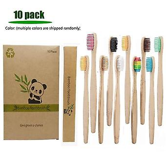 Eco Friendly Bamboo Soft Fibre Toothbrush - Biodegradable  Solid Bamboo Handle Toothbrush|