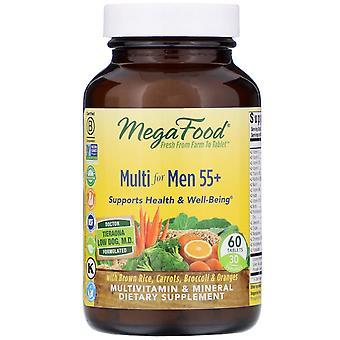 MegaFood, Multi for Men 55+, 60 Tablets