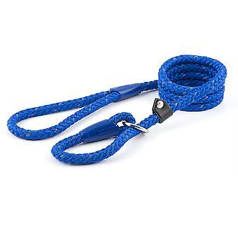 Ancol Nylon Reflective Rope Slip Lead - 12mm x 1.5m - Blue