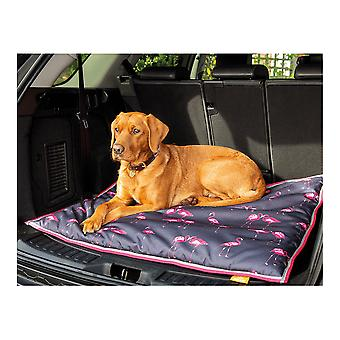 Shires Digby & Fox Waterproof Dog Bed - Flamingo Print