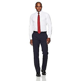 BUTTONED DOWN Miehet&s Slim Fit Button-Collar Ei-rauta mekko paita (Ei taskua), valkoinen, 17.5&; kaula 37&hiha