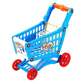 Simulaatio Supermarket Shopping Cart, Mini Muovivaunu, Teeskennelty Play Lelu