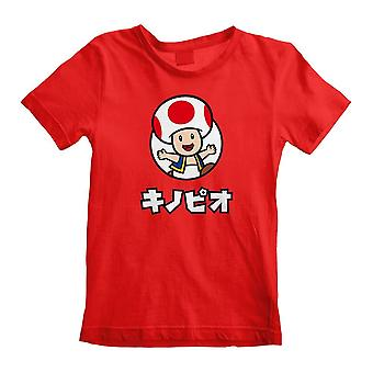 Children's Super Mario Toad Character Red T-Shirt