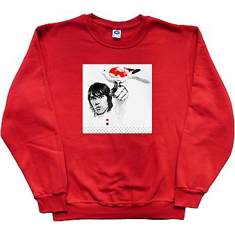 Ian Brown Red, White and Black Dove Red Sweatshirt