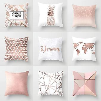 Nordic Style Plant Letter Flower Geometric Sofá Cojín Pillow