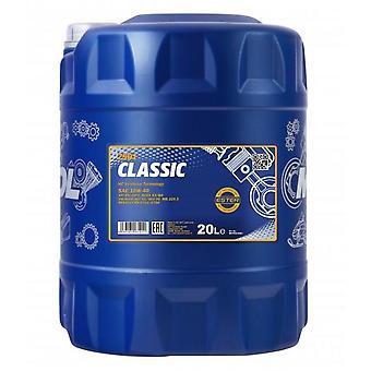 Mannol 20L Classic Semi-Synthétique Engine Oil 10W-40 API SN/CH-4 Acea A3/B6