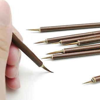 Metal Weasel Hair Brush Pen, Hook Line Paint Art, Oil Painting Tool