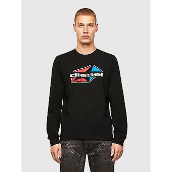 Diesel T-diegos K41 Logo Black Long Sleeve T-shirt