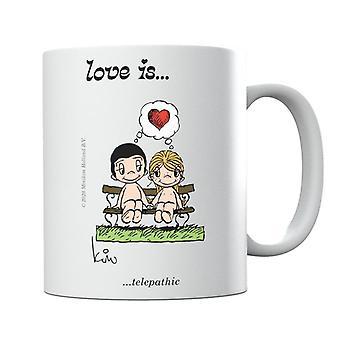 El amor es taza telepática