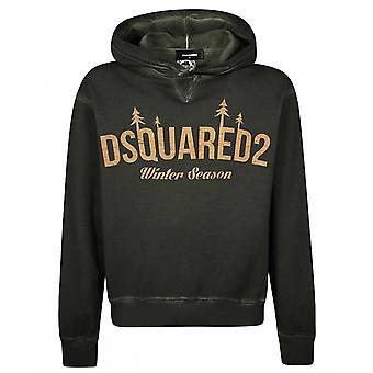 Dsquared2 ロゴ フーディ