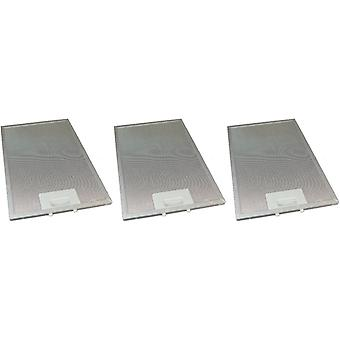 3 x universell komfyr hette metall fett filter 220mm x 320mm
