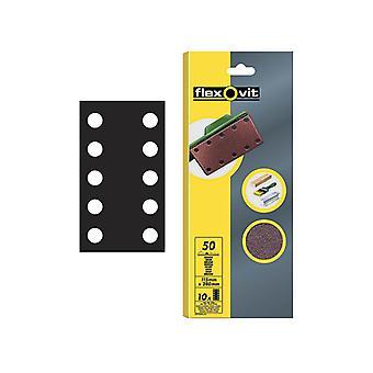 Flexovit 1/2 Sanding Sheets Perforated Medium 80 Grit (Pack of 10) FLV26499