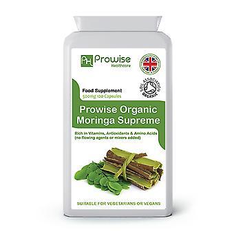 Moringa Oleifera Organic 500mg 120 Capsules | Suitable For Vegetarians & Vegans | Made In UK