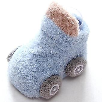 Autumn/winter Cartoon Car Baby Socks, Non-slip, Glue Toddler Warm Boots