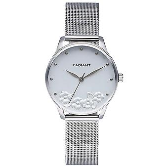 Radiant Metal & Roses Watch for Women Analog Quartz with Stainless Steel Bracelet RA548601