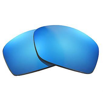 عدسات استبدال لـ Oakley Hijinx النظارات الشمسية المضادة للخدش مرآة زرقاء