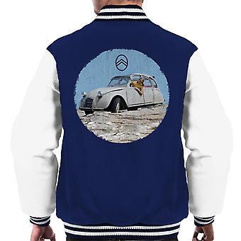 Citro?n 2CV Vintage Photo Men's Varsity Jacket