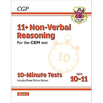 New 11+ CEM 10-Minute Tests: Non-Verbal Reasoning - Ages 10-11 Book 2 (with� Online Edition)