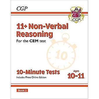 Ny 11 + CEM 10-minutters test: Ikke-verbal ræsonnement - Alder 10-11 Book 2 (med Online Edition)