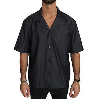 Dolce & Gabbana Musta Lyhythihainen Puuvilla paita