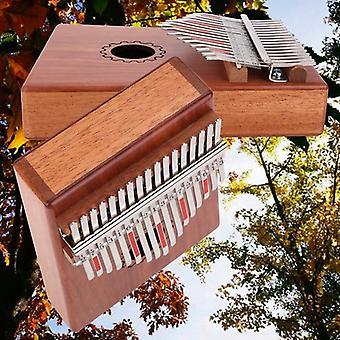 17 touches Kalimba Piano pour le pouce avec bois d'acajou avec sac, kit marteau et musique