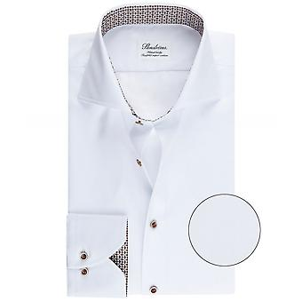Stenstroms Fitted Body Geometric Trim Shirt