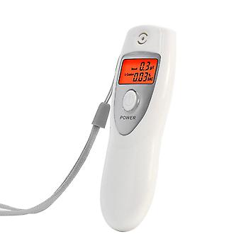 Kuuma valkoinen kannettava lcd digitaalinen hengitys alkoholianalysaattori / puhalluslaite tester