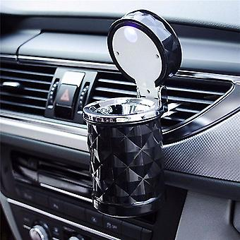 Led Light Car Ashtray Cigarette Cylinder Holder