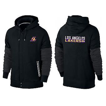 Los Angeles Lakers Knappet glidelås sport hette løs sweatshirt sportsklær WT004