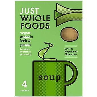 Just Wholefoods Biologische Vegan Leek & Aardappelsoep 17g (8x4)
