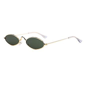 retro runde solbriller, liten oval legering ramme