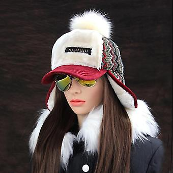 Faux chapeaux de neige pompon de fourrure