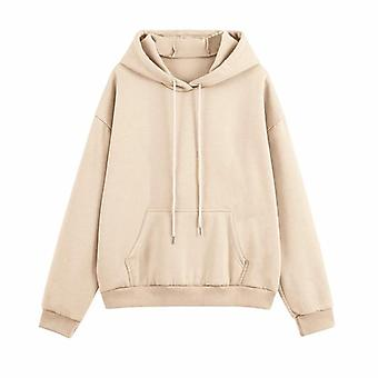 Hoodie Set Women, Autumn Solid Oversized Sweatshirt, Casual Long Sleeve, Fleece
