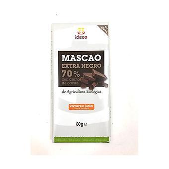 Dark Chocolate Mascao 70% with Organic Cacao Seeds 80 g