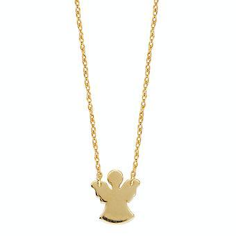 """14K Yellow Gold Mini Angel riipus kaulakoru, 16 """"ja 18"""" säädettävä"""