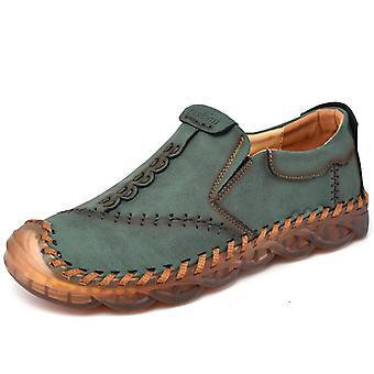 Zapatos Casual para Hombre Mocasines de Cuero 3038 Verde