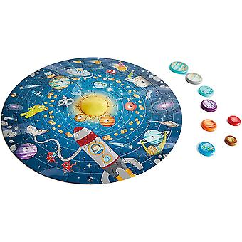 Hape E1625 Solar System Puzzle - Includes LED Sun, Planet Discs and Double Sided Poster