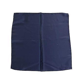 Mouchoir de soie carré bleu