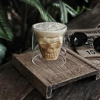 Skull Coffee Mug Double-layered Transparent Crystal Head Glass Cup
