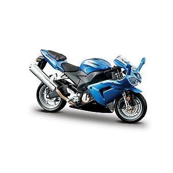 Burago Blue Kawasaki Ninja ZX 10R  Motorcycle 1:18