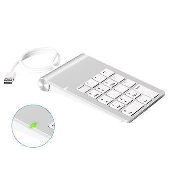 Näppäimistö 18-näppäimet kolmella Usb Hub / PC-tietokoneen numerolla Kirjanpitäjä Mini Keyboard