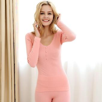 Thermal Underwear Four Grain Of Buckle Wool Warm Seamless Lace Sexy Winter Sets