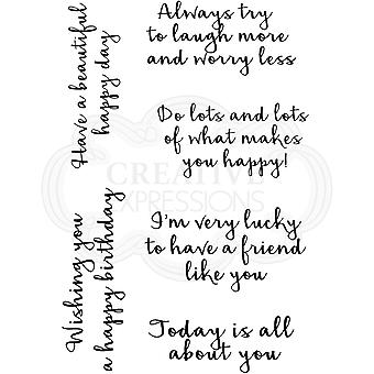 Woodware Clear Singles Happy Thoughts 4 x 6:ssa leimana