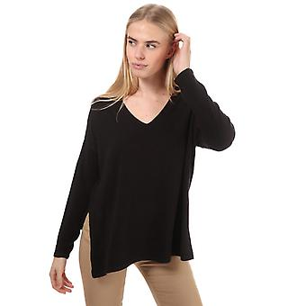 Women's Only Amalia V-Neck Jumper in Zwart