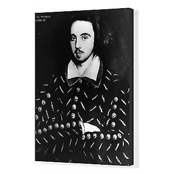 Christopher Marlowe. Box Canvas Print. English dramatist Christopher Marlowe (1564 - 1593), 1585..